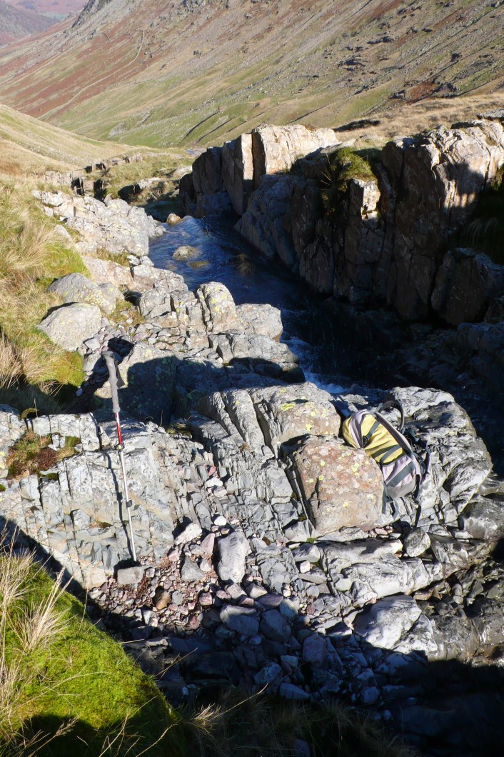 Seathwaite Tuff flaking sites adjacent to Ruddy Beck