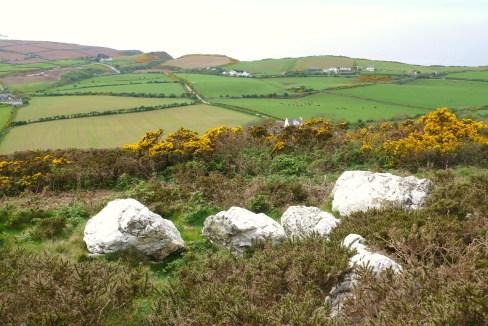 "Quartz ""stone circle"" Isle of Man"