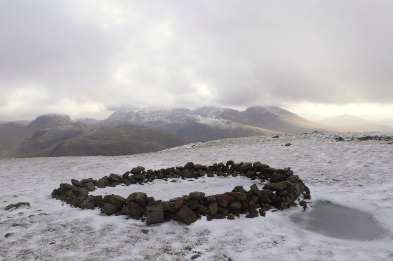Modern ring cairn Scoat Fell