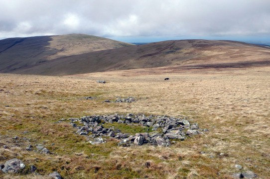 Ring cairns on Ennerdale Fell, Lank Rigg and Whoap   beyond