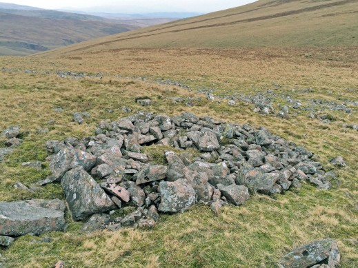 Cleared clitter ring cairn, Whoap