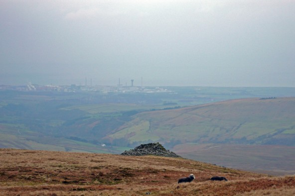 Lank Rigg Round Cairn and Nuclear Sellafield
